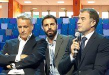 Un momento dell'intervento del sottosegretario alla Presidenza della Regione Lombardia con delega ai Grandi eventi sportivi, Antonio Rossi. Di fianco a lui il Ceo di ATP, Chris Kermode.