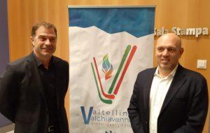 Il sottosegretario Antonio Rossi e l'assessore Massimo Sertori