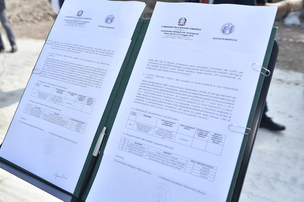 Protocollo restauro post sisma Mantova