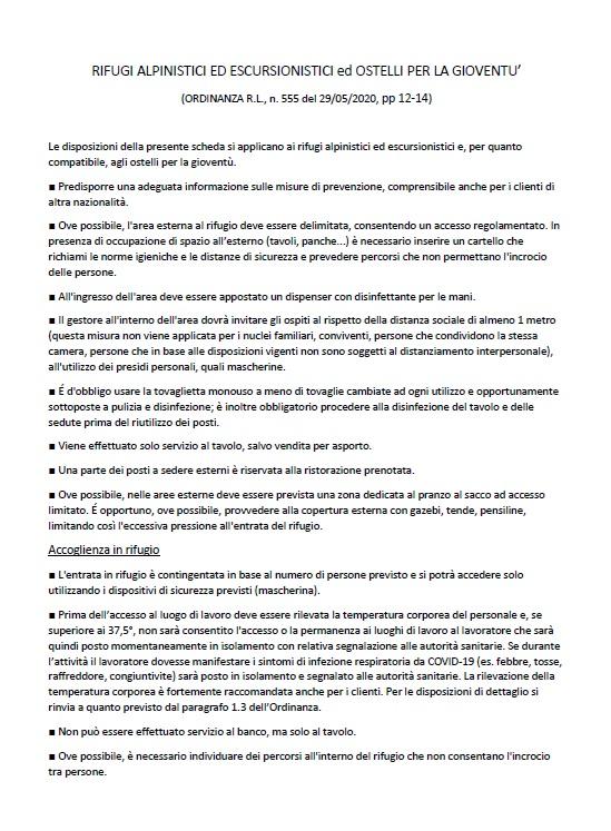 L'Ordinanza di Regione Lombardia per la parte riguardante la riapertura dei rifugi alpini_1