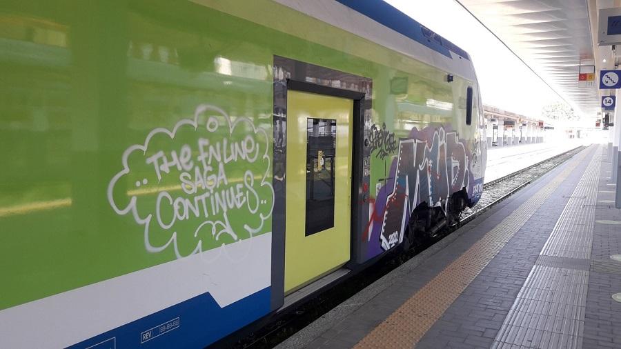 Vandalizzato Treno Caravaggio