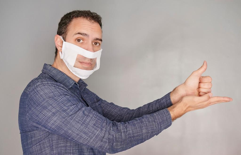 mascherine trasparenti per non udenti