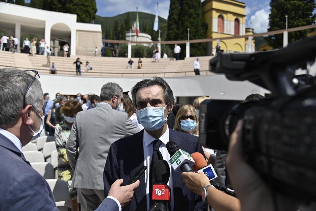 Il presidente Fontana commenta la candidatura di Brescia e Bergamo a capitali della cultura 2023