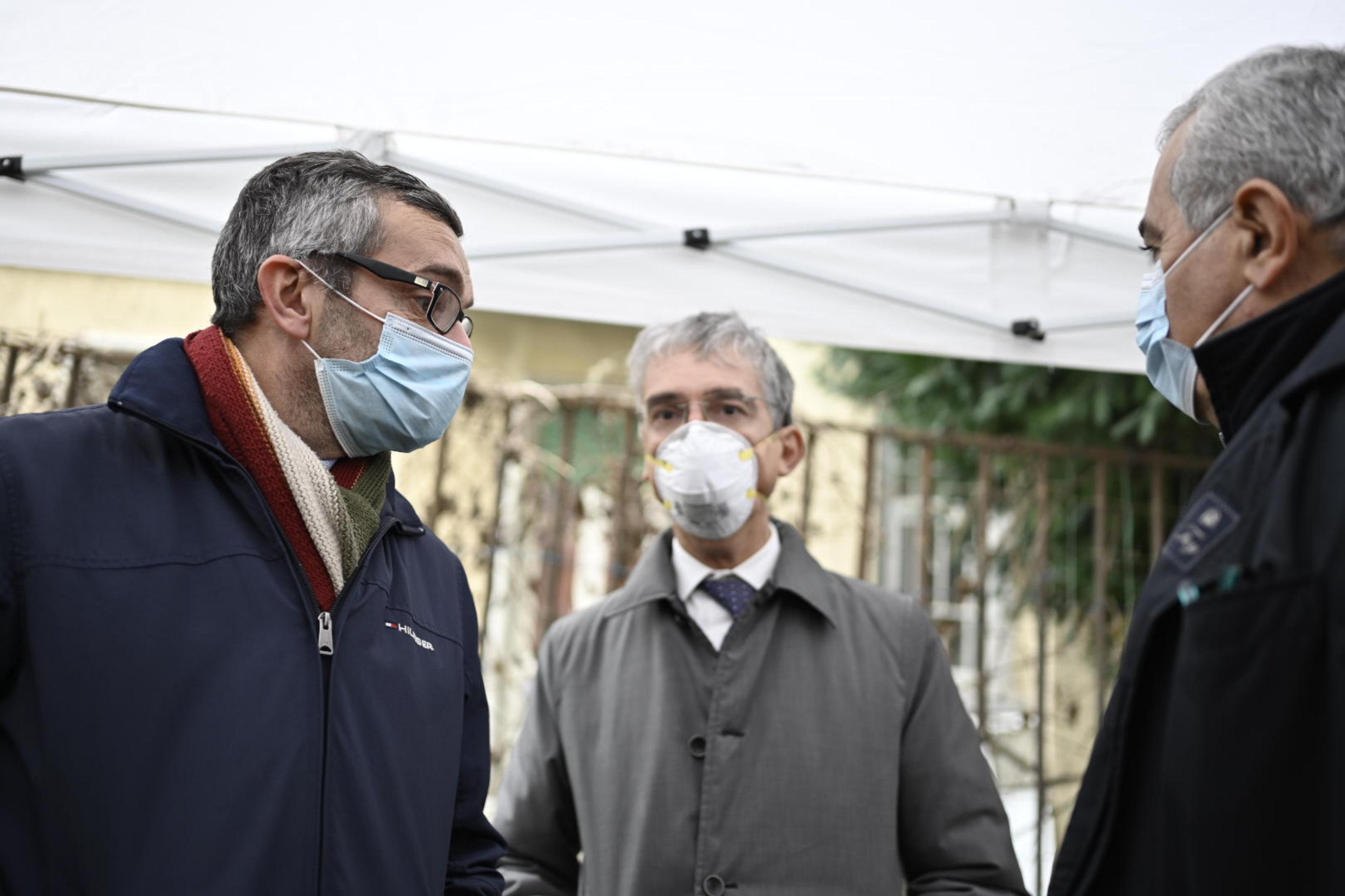 L'assessore Bolognini col direttore dell'Asst Fatebenefratelli Sacco Alessandro Visconti e il direttore di Aler Milano Domenico Ippolito