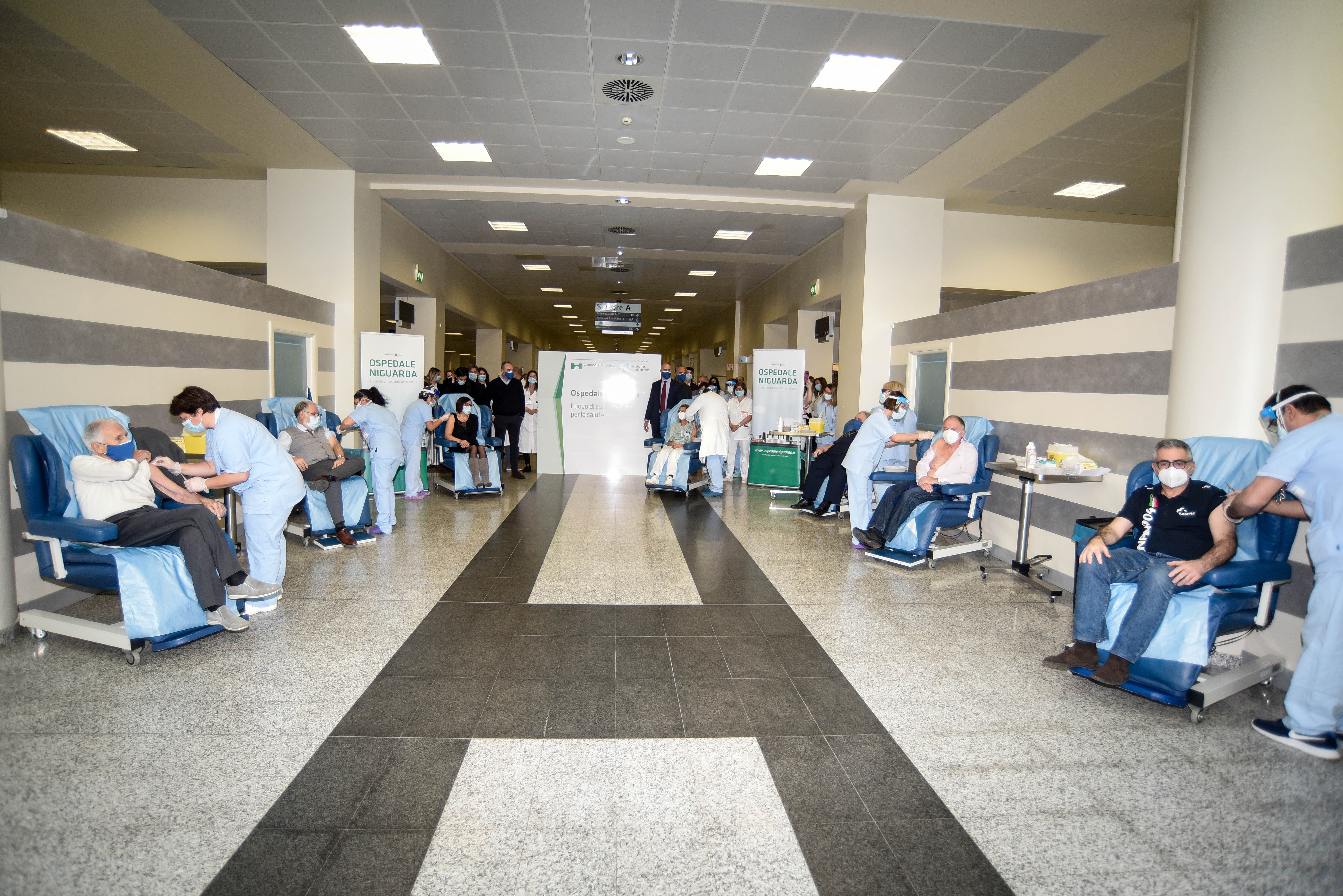vaccination day all'Ospedale Niguarda