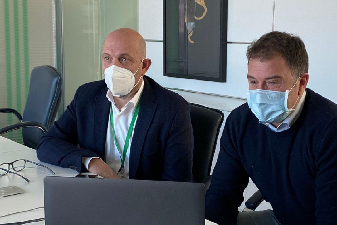 Massimo Sertori e Antonio Rossi giro italia 2021 chiavenna