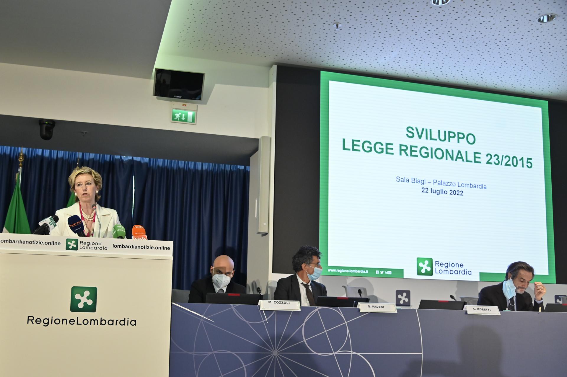 Revisione legge sanitaria lombarda, Letizia Moratti illustra i contenuti