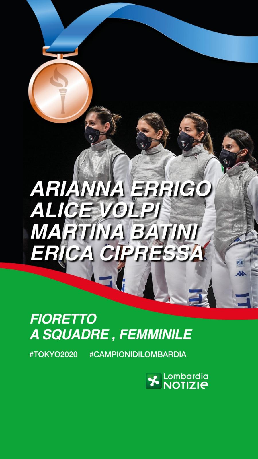Tokyo 2020: Bronzo fioretto a squadre femminile