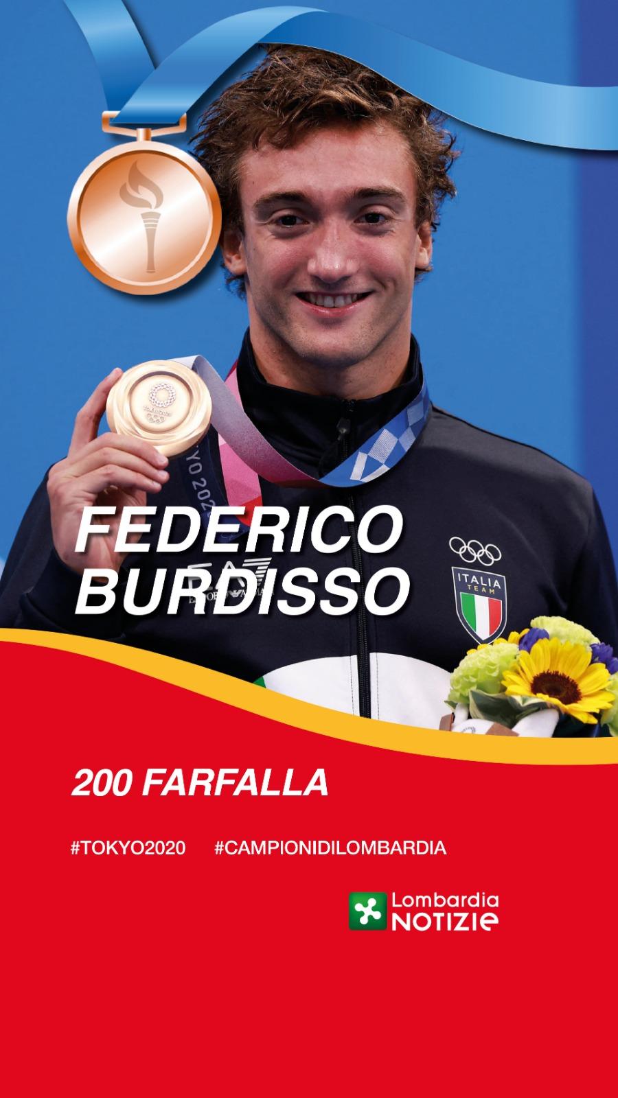 Tokyo 2020:  Bronzo 200 Farfalla – Federico Burdisso
