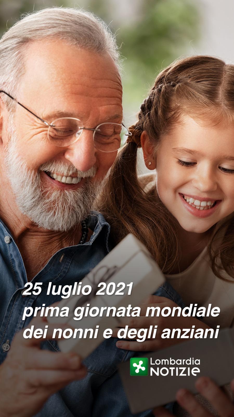 25 Luglio 2021 prima giornata mondiale dei nonni e degli anziani