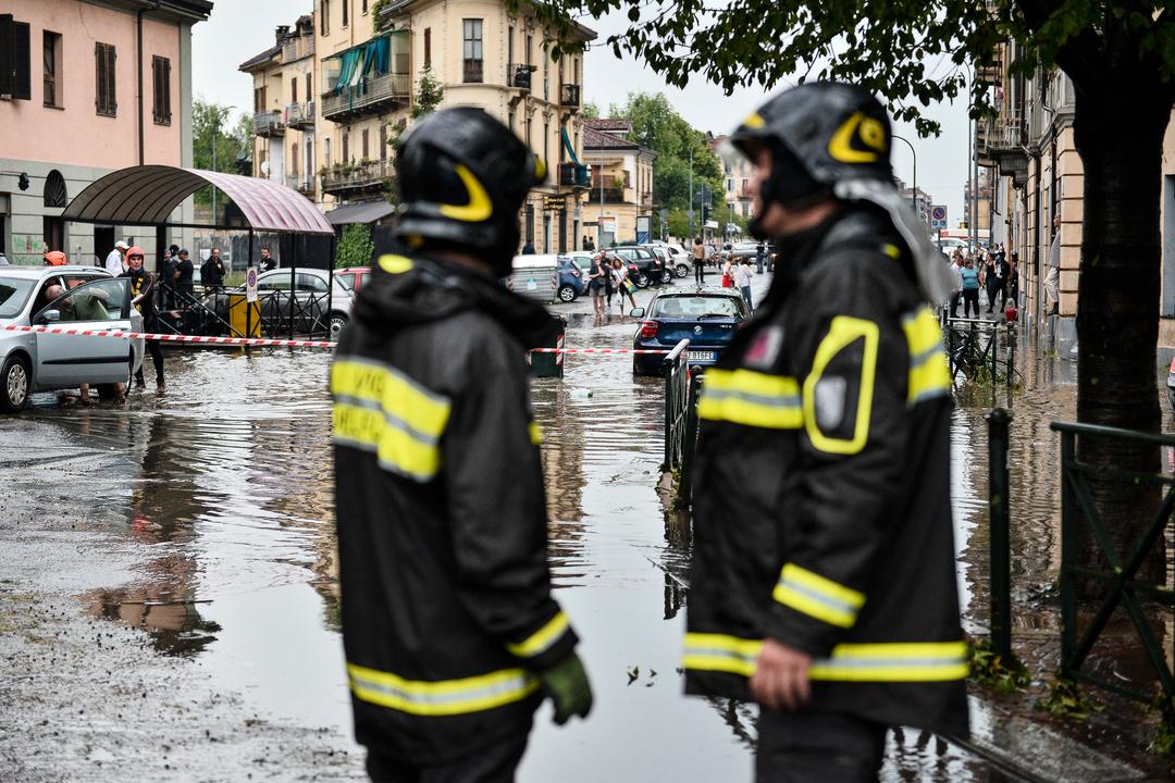 Danni maltempo Bergamo Pavia