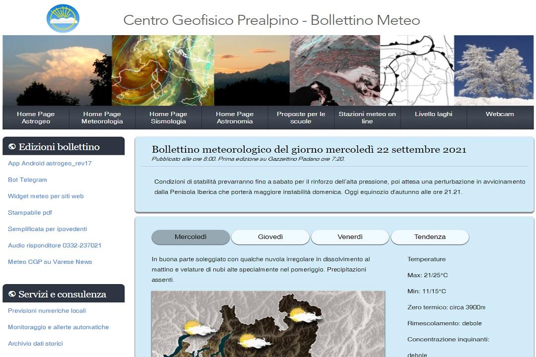 Varese Centro geofisico 2021