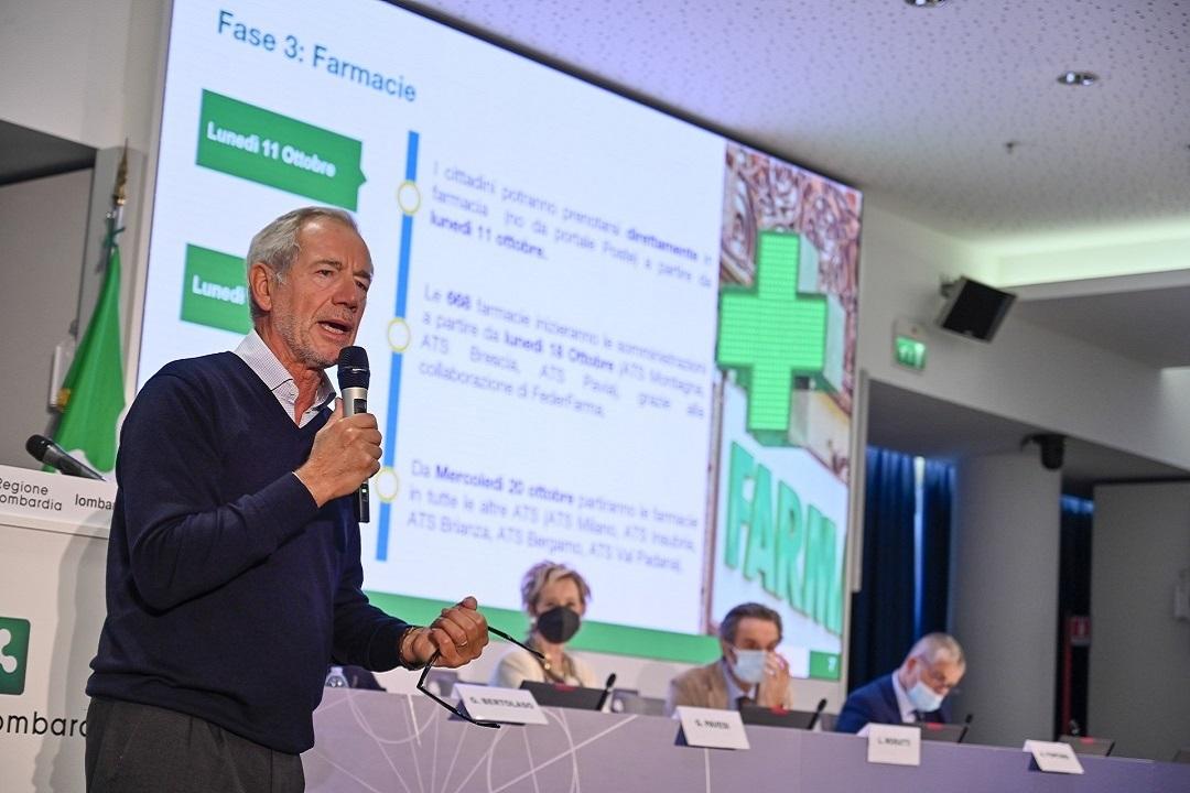 Bertolaso, Lombardia pronta terza dose vaccinazione